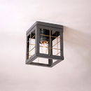 Irvin's Tinware 144XCT Single Ceiling Light with Brass Bars in Country Tin