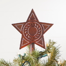Irvin's Tinware 358RT Star Tree Topper in Rustic Tin
