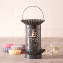 Irvin's Tinware 541BLCT Mini Wax Warmer with Bless in Country Tin