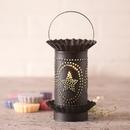 Irvin's Tinware 541SLKB Mini Wax Warmer with Star Oval Design in Kettle Black