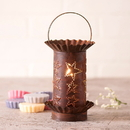 Irvin's Tinware 541STRT Mini Wax Warmer with Country Star in Rustic Tin