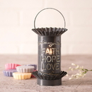 Irvin's Tinware 541VFHLCT Mini Wax Warmer with Vertical Faith Hope Love in Country Tin