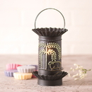 Irvin's Tinware 541WLKB Mini Wax Warmer with Willow and Sheep in Kettle Black