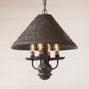 Irvin's Tinware 681TESB Homespun Shade Light in Espresso with Salem Brick