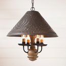 Irvin's Tinware 681TPWD Homespun Shade Light in Pearwood