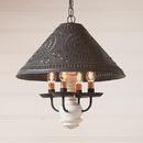 Irvin's Tinware 681TVWH Homespun Shade Light in Vintage White