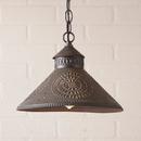 Irvin's Tinware 686CKB Stockbridge Shade Light with Chisel in Kettle Black