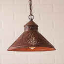 Irvin's Tinware 686CRT Stockbridge Shade Light with Chisel in Rustic Tin