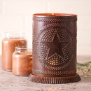 Irvin's Tinware 733RGSRT Candle Warmer with Regular Star in Rustic Tin