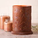 Irvin's Tinware 733STRT Candle Warmer with Country Star in Rustic Tin