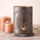 Irvin's Tinware 733WLKB Candle Warmer with Willow and Sheep in Kettle Black