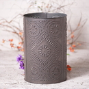 Irvin's Tinware 777DBT Waste Basket with Diamond in Blackened Tin