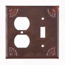 Irvin's Tinware 789OSRT Outlet and Switch Cover with Chisel in Rustic Tin