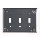 Irvin's Tinware 789TSCT Triple Switch Cover with Chisel in Country Tin