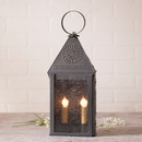 Irvin's Tinware 790CBT Hospitality Lantern with Chisel in Blackened Tin
