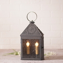 Irvin's Tinware 819CBT Harbor Lantern with Chisel in Blackened Tin
