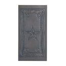 Irvin's Tinware 862BT Small Vertical Federal Panel in Blackened Tin