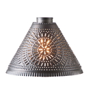 Irvin's Tinware 868CSHADKB Large Franklin Light Shade with Chisel Design in Kettle Black