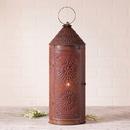 Irvin's Tinware 882CRT 22-Inch Chimney Lantern in Rustic Tin