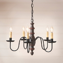 Irvin's Tinware 9112TESB Country Inn Wood Chandelier in Americana Espresso