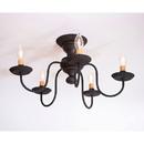 Irvin's Tinware 9183TBOR Thorndale Ceiling Light in Black