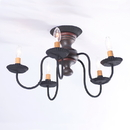 Irvin's Tinware 9183TESB Thorndale Ceiling Light in Espresso with Salem Brick