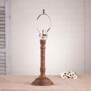Irvin's Tinware 9189H3 Gatlin Lamp Base in Hartford Mustard over Red