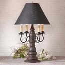 Irvin's Tinware 9196XTESB Bradford Lamp in Americana Espresso with Shade