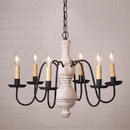 Irvin's Tinware 9205TVWH Medium Chesterfield Chandelier in Americana White
