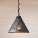 Irvin's Tinware 935CKB Wellington Shade Light in Kettle Black
