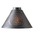 Irvin's Tinware 936CSHADKB Large Barrington Replacement Shade with Chisel in Kettle Black