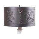 Irvin's Tinware 965CKB Floor Lamp Drum Shade with Chisel in Kettle Black
