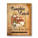 Irvin's Tinware B0492A Pumpkin Patch Apple Cider Pallet Art