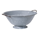 Irvin's Tinware K14-34WZ Colander in Weathered Zinc Decorative Use Only