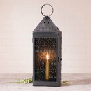 Irvin's Tinware K14-37SM Tall Harbor Lantern in Smokey Black