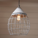 Irvin's Tinware K15-33WZ Large Farmhouse Cage Light in Weathered Zinc