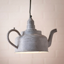Irvin's Tinware K16-31WZ Kettle Pendant in Weathered Zinc