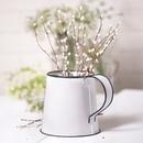 Irvin's Tinware K18-06WB Decorative Mug in White
