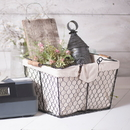 Irvin's Tinware K18-28SM Wire Caddy with Liner in Smokey Black