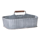 Irvin's Tinware K18-45WZ Caddy with Middle Divider in Weathered Zinc