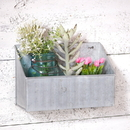 Irvin's Tinware K18-69GL Simple Wall Bin in Galvanized Tin