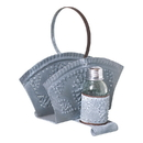 Irvin's Tinware K18-96WZ Napkin and Shaker Holder in Weathered Zinc