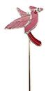 IWGAC 01-18127 Cardinal Art Glass Garden Stake