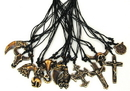 IWGAC 0126-2946 Bone Necklace Bull/Cross Set of 12