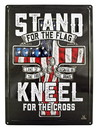 IWGAC 0126-40087 I STAND FOR THE FLAG - I KNEEL FOR THE CROSS