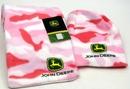 IWGAC 0126-9003 John Deere Hat & Scarf Pink