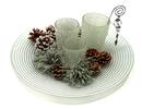 IWGAC 0142-84218 Ice Crystal 3 VotivePlate 15pc Holiday Set