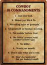 IWGAC 017-1529 Cowboy 10 COMMANDMENTS