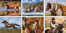 IWGAC 017-788 Horse Scenes Cutting Boards Assorted Priced Each