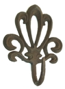 IWGAC 0170-01623 Cast Iron French Style Rust Wall Hook Set of 6